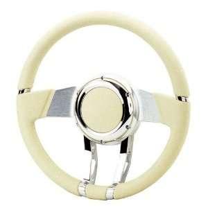River FR20150LT Steering Wheel WaterFall 13.8in Light Brown Leather