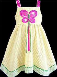 NEW Girls YELLOW & PINK BUTTERFLY Dress 6 Clothes NWT