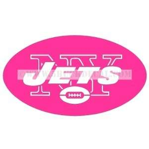 NY JETS PINK car window sticker decal FOR BREAST CANCER