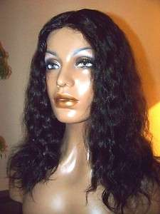 Full Lace Human Indian Hair Remi Remy Wig 16 1b Natural Straight