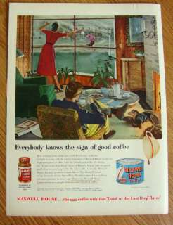 1951 Maxwell House Coffee Ad Chill March Day