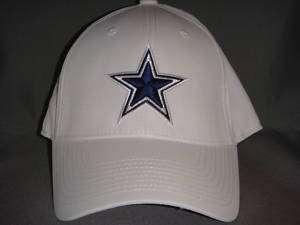 DALLAS COWBOYS STAR NFL HAT CAP REEBOK WHITE L/XL