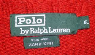 LAUREN POLO Wool TEDDY BEAR SKI Sweater Boys XL Mens S RARE