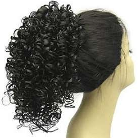 Curly HairPiece Clip on Ponytail Black/Brown/Auburn/Red