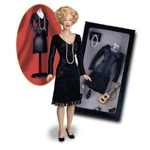 Marilyn MonroeTM Black Dress Ensemble for Vinyl Doll Toys