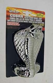 COBRA SNAKE HITCH RECEIVER COVER PLUG LED STOP LIGHT*EO