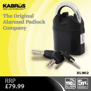 HEAVY DUTY PADLOCK with CLOSED SHANK with SMART ALARM SENSOR Siren