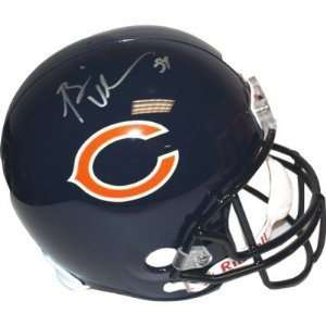 BRIAN URLACHER CHICAGO BEARS SIGNED AUTOGRAPHED MINI HELMET MATCHING