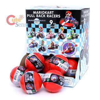Super Mario Bros Mini Kart Pull back Figure Random Ball