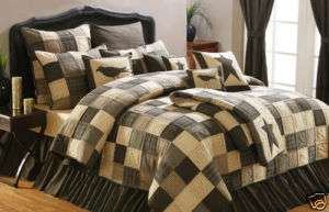 COUNTRY PRIMITIVE KETTLE GROVE LUXURY KING SIZE QUILT