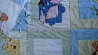 Disney Winnie Pooh Crib Set Bumper Pad Quilt Infant