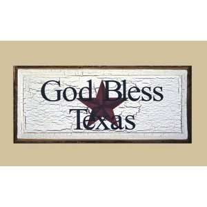 : SaltBox Gifts RW1023GBT God Bless Texas Sign: Patio, Lawn & Garden