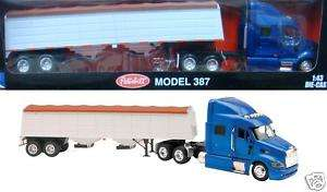 NEW RAY PETERBILT 387 GRAIN HAULER SEMI 1/43 NEW 15453
