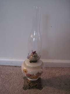Vintage Phoenix Floral oil Lamp With Eagle Burner