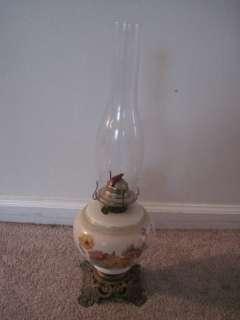 Vintage Phoenix Floral oil Lamp With Eagle Burner