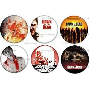 Set of 6 DAWN OF THE DEAD Pinback Buttons 1.25 Pins / Badges 1978
