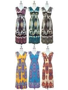 NWT Women Maxi Sleeveless Surplice Summer/Beach Dress w/Smocked Waist