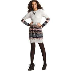 JUICY COUTURE $278 ENGINEERED ZIG ZAG WOOL CASHMERE SWEATER DRESS M