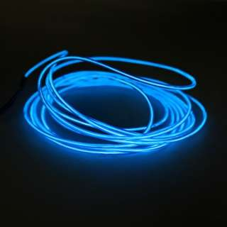 3m 9.8FT EL Wire Neon Blue Glow Light Battery Driver