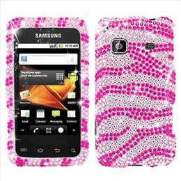 Pink Heart Bling Case Cover for Samsung Galaxy Prevail