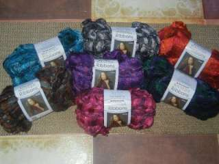 Red Heart Boutique Ribbons Yarn for Ruffle Scarves 3.5 oz Skein