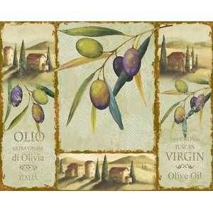 Olio Italia Virgin Olive Oil Tempered Glass Cutting Board, 15x12
