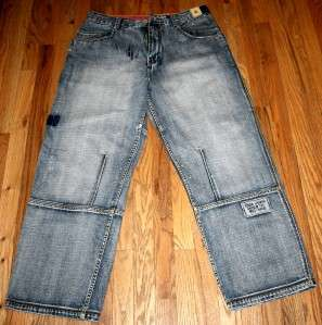 Jeans London Mens used cuff pocket wear Funky Measured Size W 36 L 30