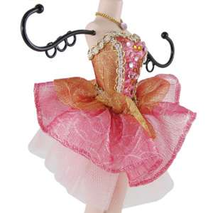 Ballerina Doll Jewelry Stand Mannequin Red Holder 14H