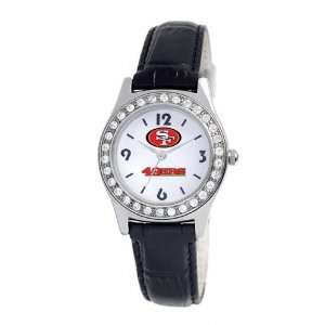 San Francisco 49ers Womens Black Game Day Dazzler Watch