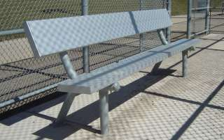 Commercial Outdoor Portable Aluminum Plank Sport Park Bench 8 Black