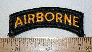 ARMY FULL COLOR BLACK & YELLOW AIRBORNE SSI TAB NEW