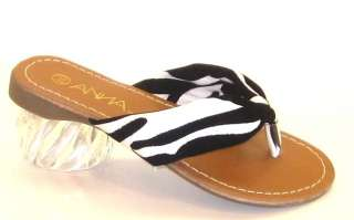 Girls Trendy ZEBRA Animal Print Thongs Sandals Summer Beach Vacation