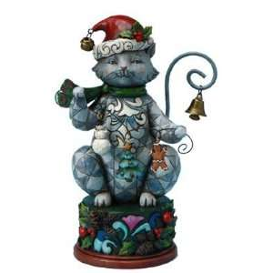 Jim Shore   Heartwood Creek   Christmas Cat w/Garland Holiday