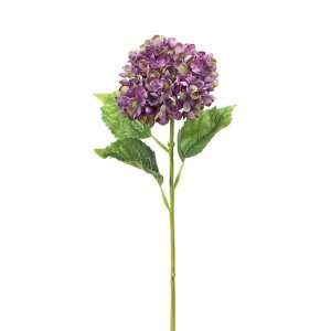 of 12 Purple Hydrangea Artificial Flower Stems 24