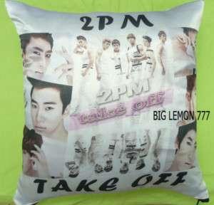 2PM Photo Cushion Pillow Cover Pillowcase Satin Q1