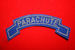 AIRBORNE PARACHUTE TITLE TAB PATCH BULLION WIRE