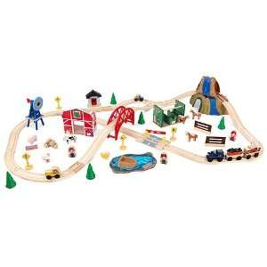 Kidkraft Childrens Toy 75Pc Farm Train Tabletop Play Set