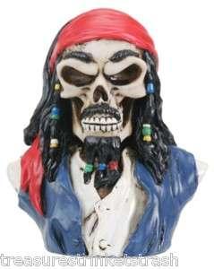 Skull & Skeleton Captain Jack Sparrow Pirate Skull Bust