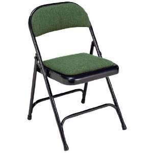 Virco 188 Padded Seat and Back Folding Chair  Charcoal Black
