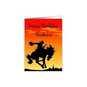 Happy Birthday Buckaroo Cowboy Silhouette Card Toys & Games