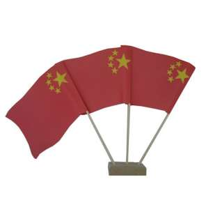 Pack 10 Chinese Table Flags New Year Party Decoration