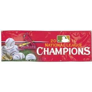 St. Louis Cardinals 2011 National League Champions 2x6 Vinyl Banner