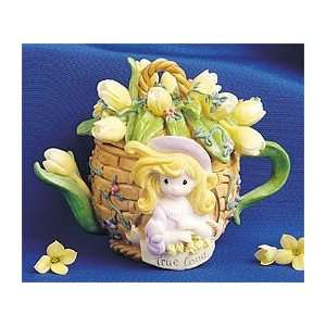 Precious Moments Flower Basket Mini Teapot  Home