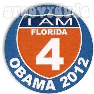 of Florida Gators I 4 FL Barack OBAMA 2012 Campaign Pin Button Badge