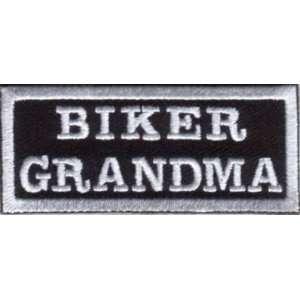 BIKER GRANDMA Embroidered Quality Nice Biker Vest Patch