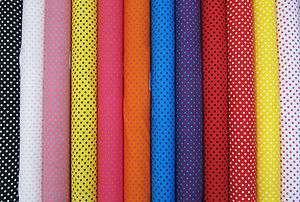 Polka Dots Spots 100% Cotton Poplin Fabric 27 Colours Spotted