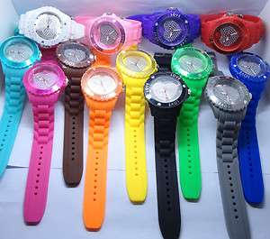 FASHION Wrist Watch Love Heart Wheel jewelry Unisex Jelly Candy Quartz