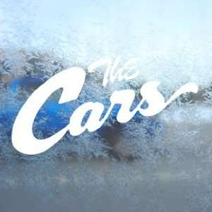 The Cars White Decal Rock Band Car Window Laptop White