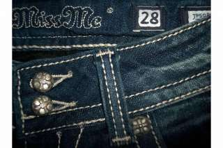 NWT Miss Me by Mek Crystal Bling Angel Wing Jeans from Buckle 28 $98