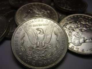 Old US Silver Coin Lot Uncirculated Morgan Silver Dollars Set Bullion